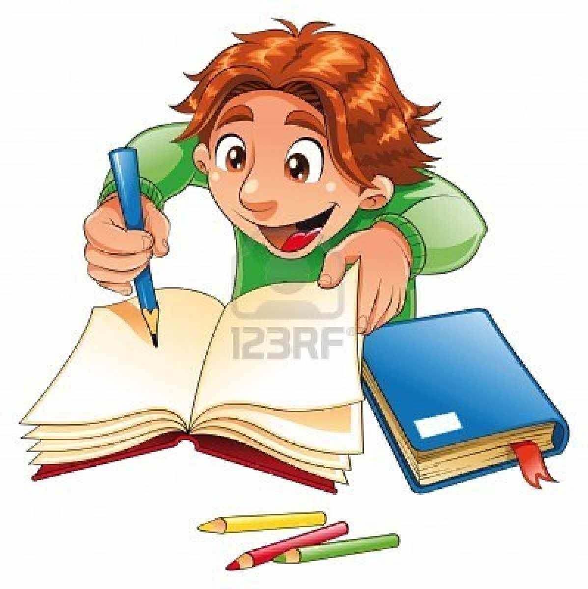 Рисунок учащегося с учебником
